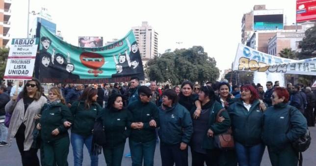 Trabajadoras de Trolebuses cordobeses movilizan contra los despidos y la discriminación