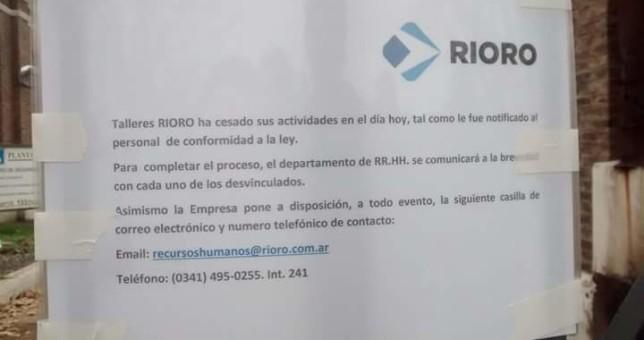 Se confirmó el cierre de talleres ferroviarios de Pérez