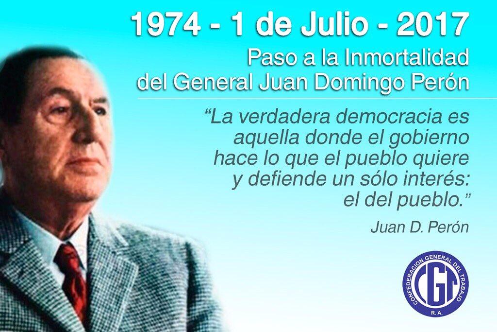 La CGT recordó a Perón a 43 años de su muerte