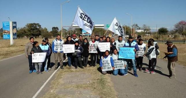 Una protesta sindical acompañó la llegada de Macri a Jujuy