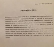 Alerta entre los ferroviarios por el decreto de Macri que habilita a levantar ramales
