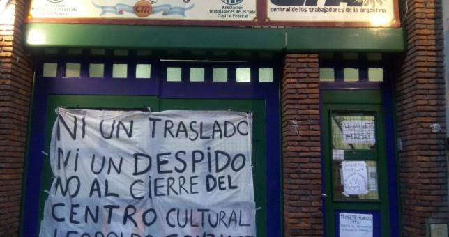 Ocupan el Centro Cultural Leopoldo Gonzalez y le piden a ATE Capital que continúe funcionando