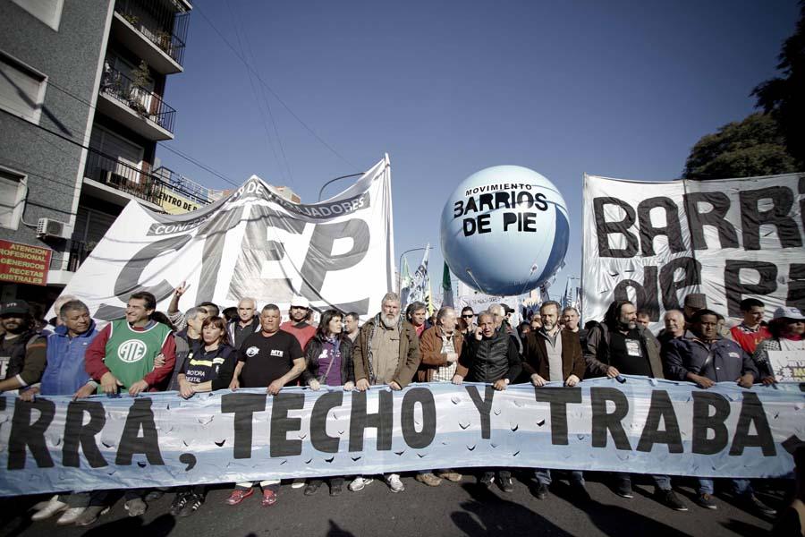 El triunvirato de organizaciones sociales anunció la adhesión a la marcha de la CGT