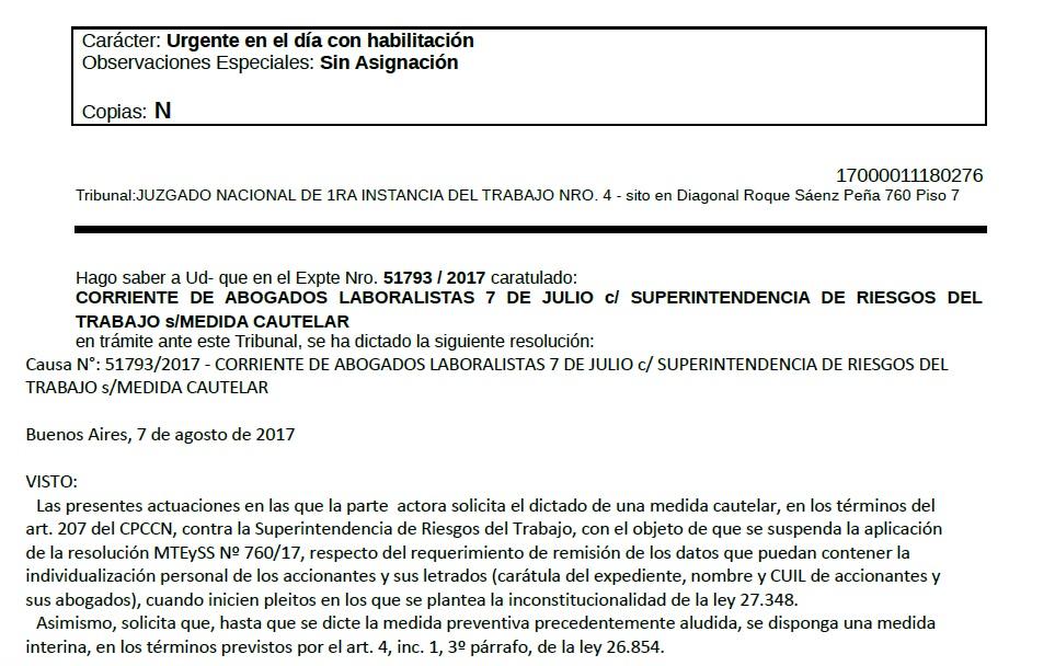 """Cachetazo Judicial I: freno a """"la lista negra"""" de abogados y trabajadores que inicien juicios laborales"""