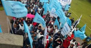 Las 62 normalizaron una regional del conurbano, rodeados de dirigentes de Cambiemos