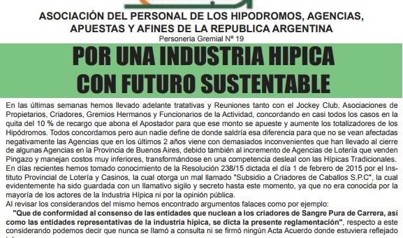 """Reclaman soluciones de Vidal para tener una industria hípica """"con futuro sustentable"""""""