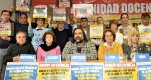 Los docentes le advierten a Vidal que van a rechazar un 15% sin cláusula gatillo