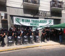 Larreta manda la policía a encerrar una protesta