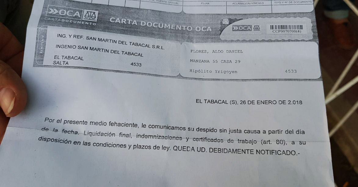 Caravana de los azucareros del norte contra los 1400 despidos en el sector