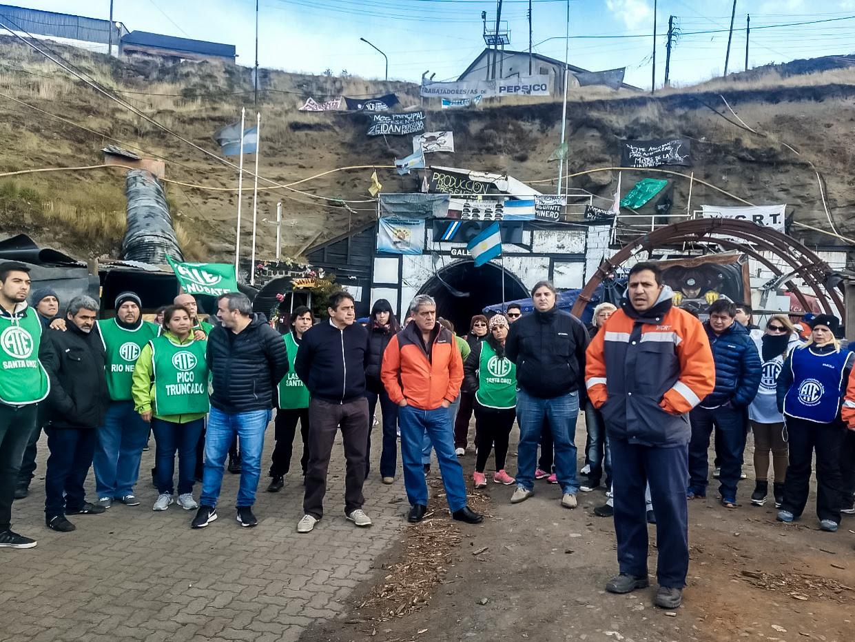 ATE va a un paro patagónico por la reincorporación de los despedidos de Río Turbio
