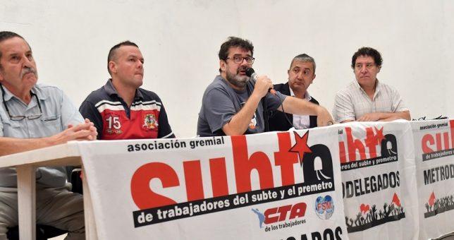 Los Metrodelegados no aceptan el 15% firmado por Larreta con la UTA y lanzan un plan de lucha