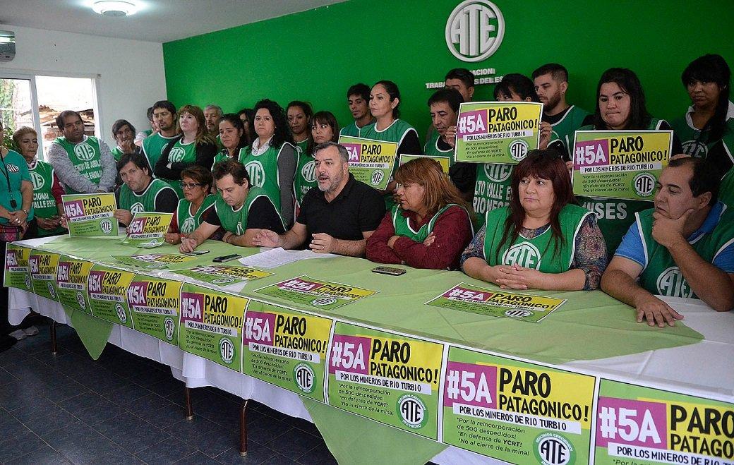ATE Río Negro lanzó un paro y hará acampes contra el ajuste del Gobierno Nacional