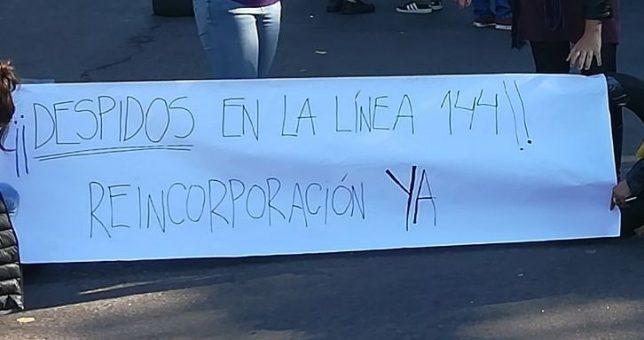 Vidal despidió a 5 trabajadoras de la Línea 144 por adherirse a un paro