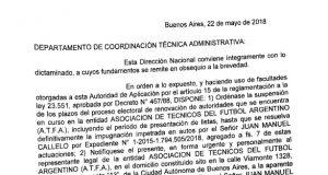 Trabajo suspendió el proceso electoral del gremio de técnicos de fútbol