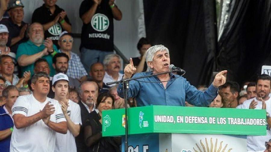 """Moyano y la multisectorial del #21F advierten: """"Si hay veto, habrá paro nacional"""""""