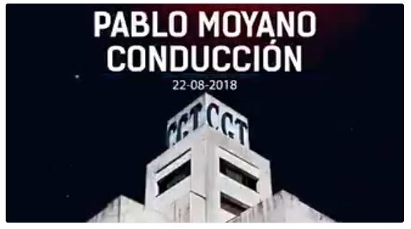 Pablo Moyano ya tiene su primer spot de campaña en la carrera para conducir la CGT