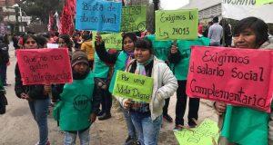 Tabacaleros protestaron por el recorte de los subsidios a los temporarios