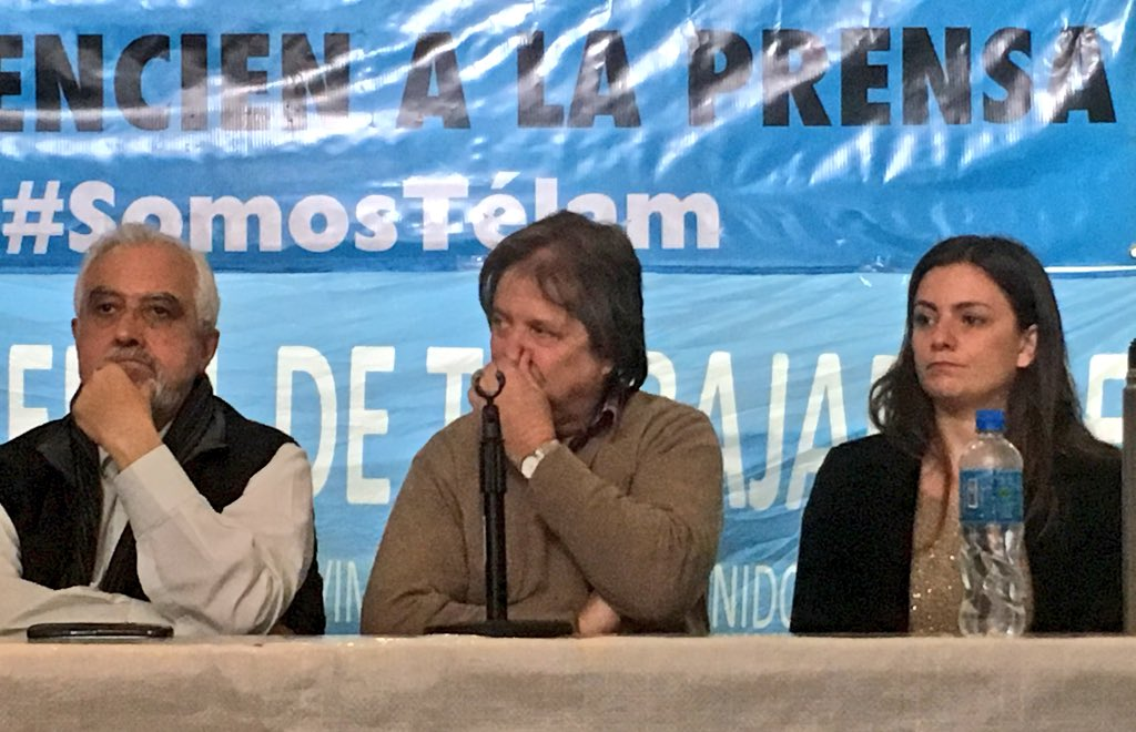 La Corriente respaldó a los despedidos de Telam: «Tenemos el deber que defender a los trabajadores y a los jubilados»