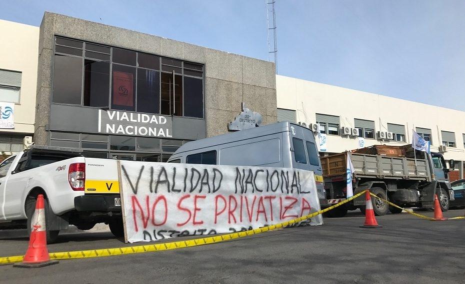 """Con respaldo multisectorial, lanzan la marcha federal y contra el """"desguace privatizador» de Vialidad Nacional"""