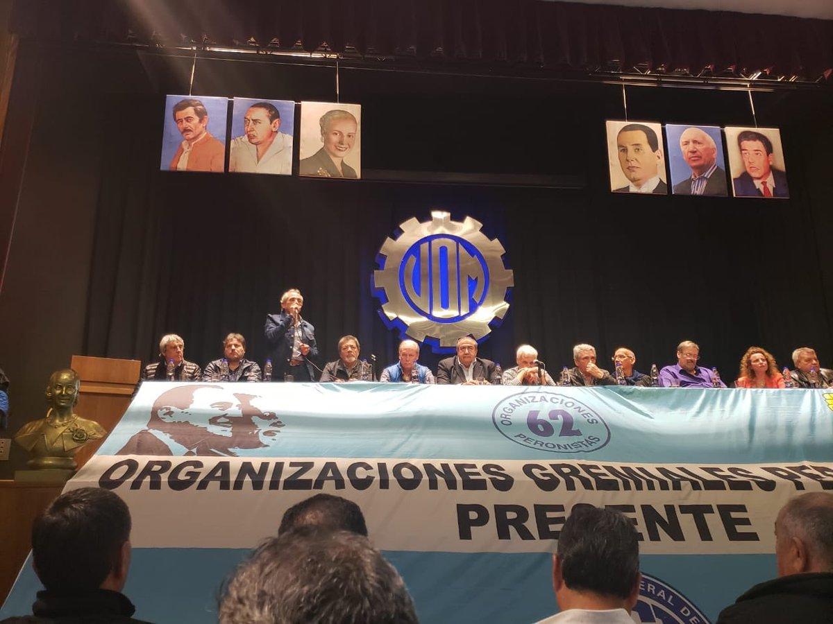 La CGT lanzó sus propias 62 organizaciones y se configura como el brazo sindical del PJ dialoguista