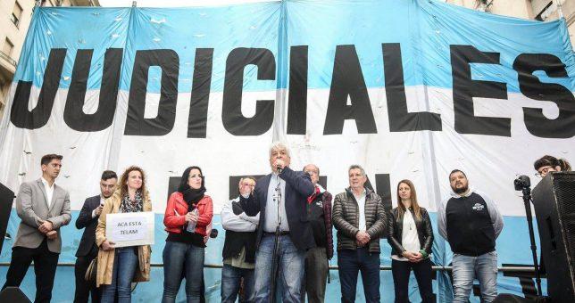 Paran y movilizan los judiciales por aumento salarial y contra el traspaso a la Ciudad