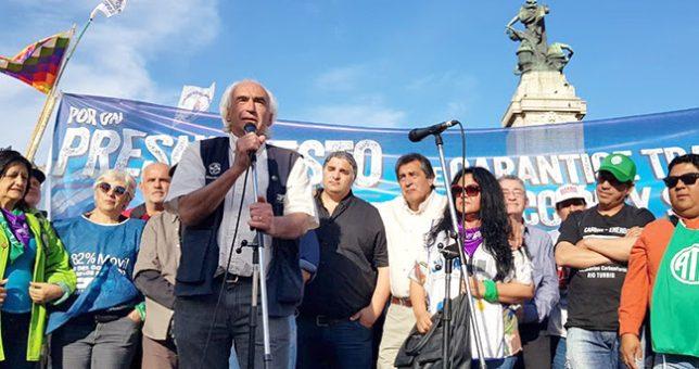 La CTA Perón para y se moviliza cuando se trate el presupuesto