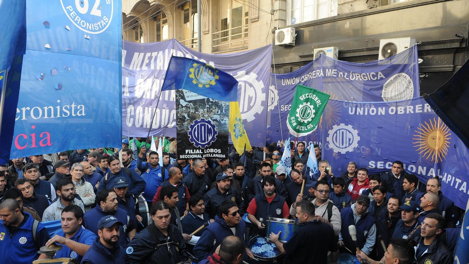 Con la paritaria estancada, la UOM lanzó un paro nacional con movilizaciones