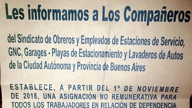 Acuña le comunicó a sus afiliados que tienen que cobrar el bono, pero las empresas dicen que no pueden pagar