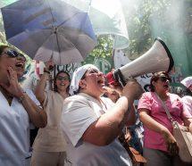 Marcharon los enfermeros para que Larreta los reconozca como profesionales de la salud