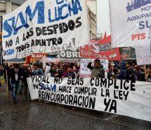 Empleados de SIAM cortaron el Puente Pueyrredon para reclamar la reincorporación 20 despedidos