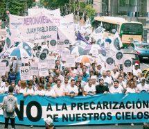 Transversal respaldo gremial en la protesta de Aeronavegantes contra la política de transporte de Cambiemos