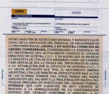 Con una dura carta documento, Fabré intimó a la conducción de la CGT a renovar autoridades