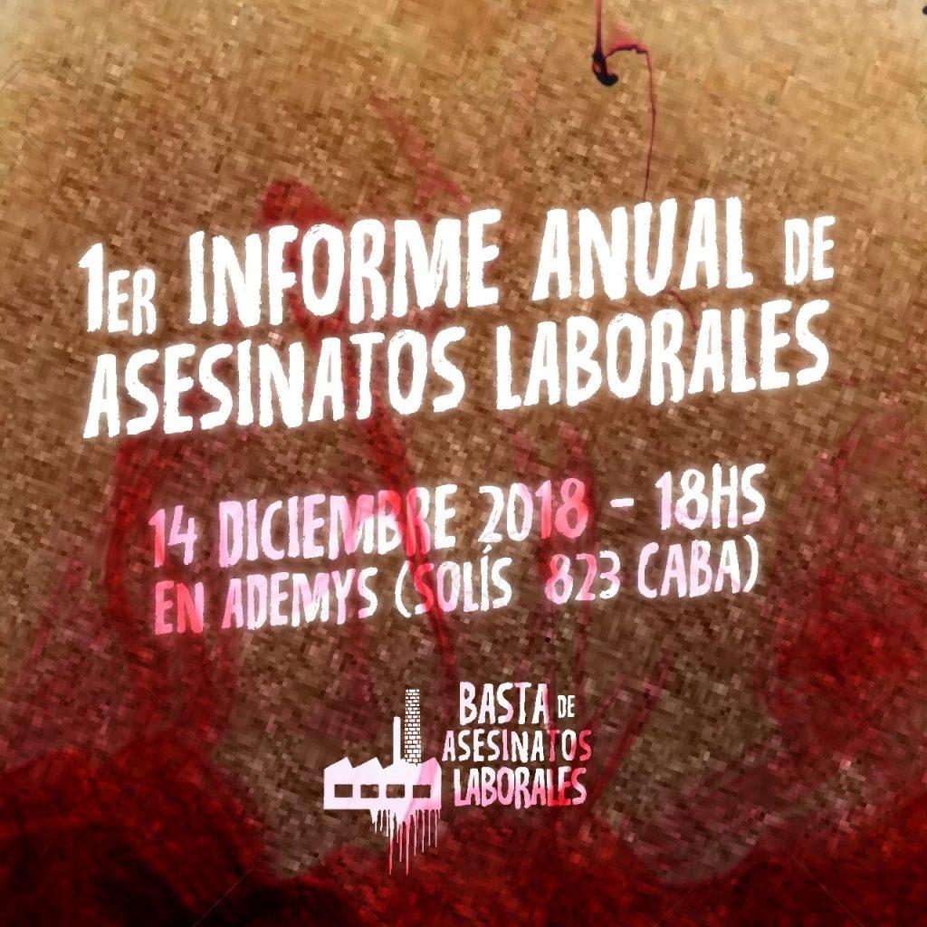 En Argentina fallece un trabajador cada 20 horas a causa de asesinatos laborales