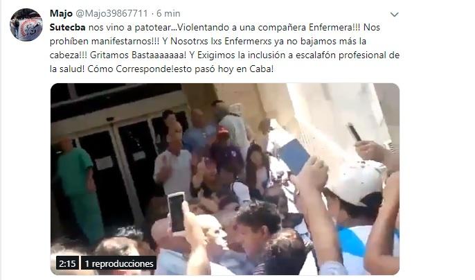 Enfermeras denunciaron que una patota de Sutecba las atacó para acallar una protesta