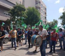 ATE moviliza para rechazar los despidos en Fabricaciones Militares y Biblioteca Nacional