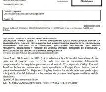 """""""Caballo"""" Suarez contraataca y denuncia a Triaca, Canicoba y Gladys Gonzalez por asociación ilícita"""