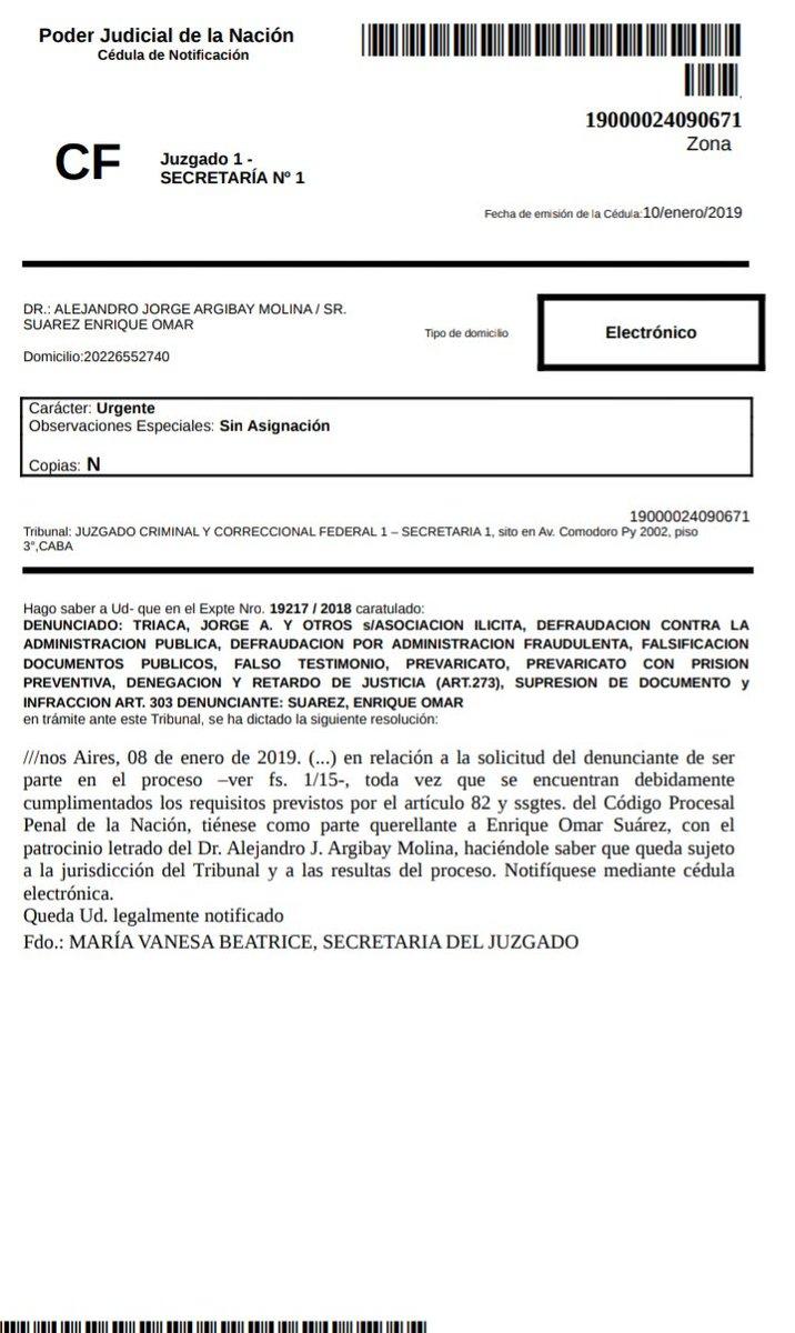 «Caballo» Suarez contraataca y denuncia a Triaca, Canicoba y Gladys Gonzalez por asociación ilícita