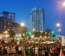 Multitudinaria marcha en Mar del Plata contra los tarifazos