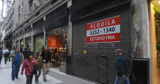 Crisis: aumentó 57% la cantidad de locales vacíos en la Ciudad de Buenos Aires