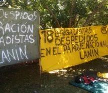 Reclaman la reincorporación de brigadistas despedidos del Parque Nacional Lanin