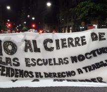 Los docentes se sumarán al ruidazo del viernes para pedir que Larreta no cierre las escuelas nocturnas