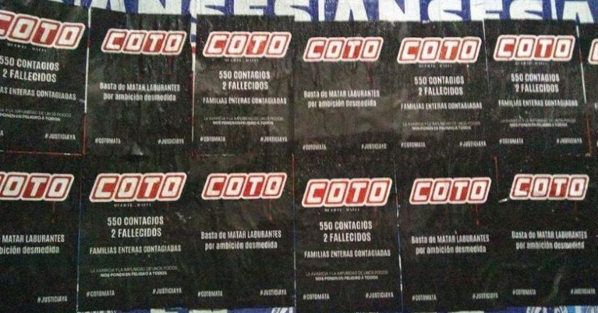 Delegados y trabajadores de Coto denuncian cientos de despidos encubiertos y persecución gremial