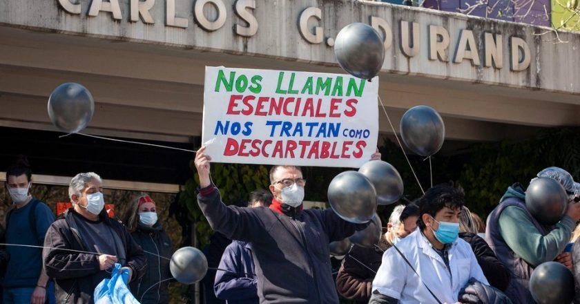 Los médicos porteños vuelven a la calle y rechazan el aumento 12 puntos abajo de la inflación que les ofrece Larreta