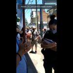 Banco Piano le manda a la policía a los delegados en una protesta