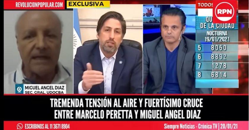 Peretta y Díaz se cruzaron al aire por el regreso a las clases presenciales: «!No mandés a la gente a morir!»