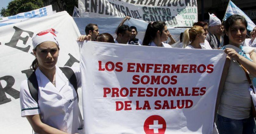 Enfermería moviliza por el reconocimiento profesional de Larreta