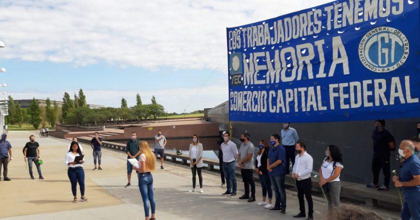 En el Parque de la Memoria, la Juventud de Comercio recordó a las víctimas del terrorismo de Estado