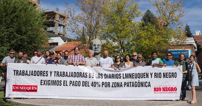 Trabajadores de prensa reclaman el pago por zona desfavorable en Neuquén, Río Negro y La Pampa