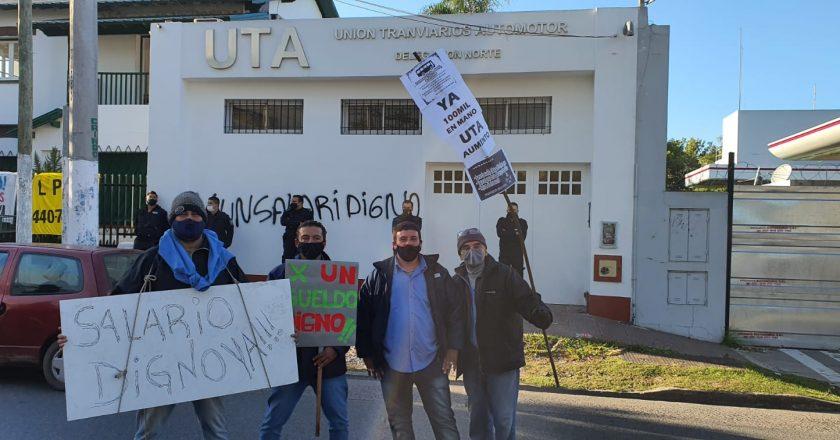 Choferes movilizan a la UTA para reclamar un salario inicial de 100 mil pesos, normalización de la obra social y vacunas