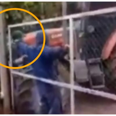 Productor mendocino atropelló a un obrero de su chacra que reclamó el pago de su salario